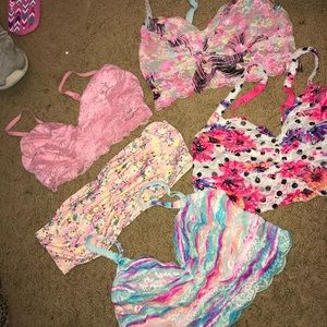 4 Bralettes and 1 Bandeau